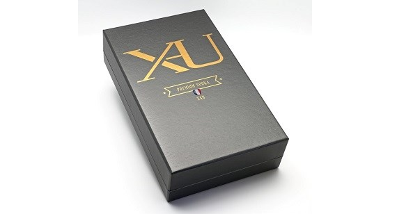 Coffret du flacon de Vodka Xau