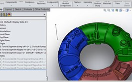 3D model of Protolabs' Torus assembly in Solidworks