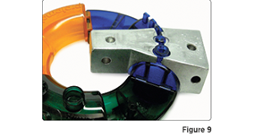 Injection molding pickout to create internal undercut